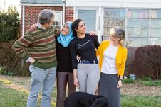 Free Host Family & YES Exchange Students Royalty Free Stock Image - 92131346