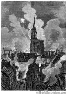 Free Bombardment Of Strasbourg Stock Images - 92132384