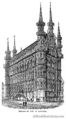 Free Leuven Town Hall Royalty Free Stock Photos - 92132548