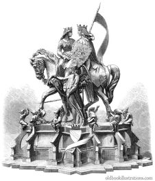 Free King And Queen On A Horse Stock Images - 92134404