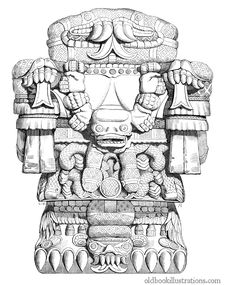Free Aztec Goddess Coatlicue Stock Photo - 92134750