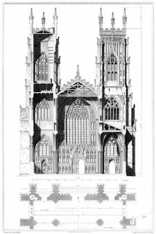 Free York Cathedral, Elevation And Section Royalty Free Stock Photos - 92136088