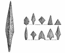 Free Flint Spear And Arrow-Heads Royalty Free Stock Image - 92136476