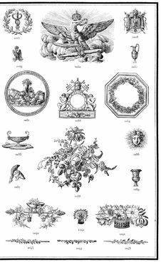 Free Plate With Various Printer's Ornaments &x28;1&x29; Stock Photos - 92138323