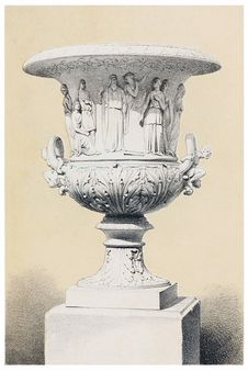 """Free Vase With Figures From """"The Tempest"""" Royalty Free Stock Photo - 92141225"""
