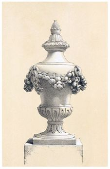 Free Decorative Urn Stock Images - 92141284
