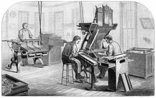 Free Dickinson-Lorenz Typesetting And Distributing Machines Stock Images - 92141944