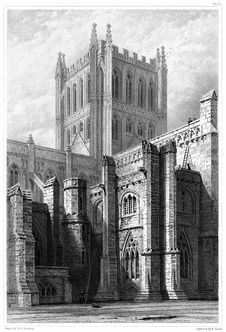 Free Hereford Cathedral—Tower & Transept Stock Images - 92142414