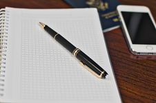 Free Black Click Pen On Spring Notebook Stock Image - 92160071