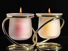 Free Pair Of Candles Royalty Free Stock Photos - 92160638