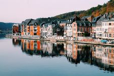 Free Dinant City And Meuse River Stock Photo - 92160760