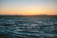 Free Bridge Over Sea Stock Image - 92160821