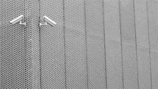 Free Security Cameras On Aluminum Fence Royalty Free Stock Photography - 92160897