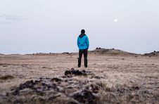Free Man Standing In Field Royalty Free Stock Image - 92160956