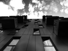 Free Building Exterior In Black And White Stock Image - 92160971