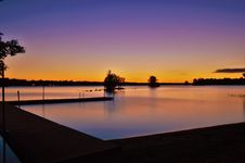 Free Sunset Over River Waterfront Royalty Free Stock Photo - 92161075