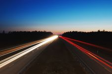 Free Light Trails On Highway  Royalty Free Stock Photo - 92161105