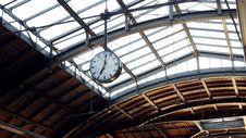 Free Clock Hanging In Terminal Royalty Free Stock Photo - 92161135