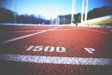 Free Running Track Royalty Free Stock Image - 92161136