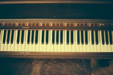 Free Old Vintage Piano Keys Wood Royalty Free Stock Photography - 92161487