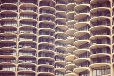 Free Downtown Chicago Marina City CornCob Sky Scrapers Royalty Free Stock Images - 92161499