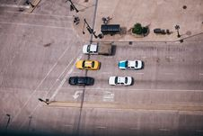 Free Chicago Street Birds Eye View Taxi Stock Photos - 92161593