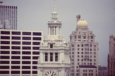 Free -Wrigley Building Chicago Architecture Skyline Royalty Free Stock Images - 92161729