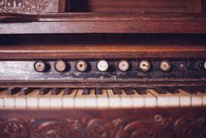 Free Old Organ Piano Black And White Keys Vintage Wood Rustic Stock Image - 92162041