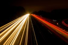 Free Speeding Car On High Way During Night Time Royalty Free Stock Image - 92174586