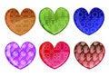 Free Hearts Icon Set Royalty Free Stock Image - 9225256