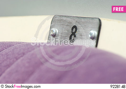 Seat number Stock Photo