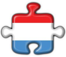 Free Luxembourg Button Flag Puzzle Shape Stock Photos - 9220403