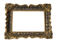 Free Gold Frame With Clipping Path Stock Photo - 9221030