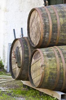 Free Wine Barrels Stock Photos - 9221423