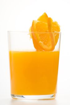Free A Delicious Freshness Orange Juice Royalty Free Stock Photos - 9222588
