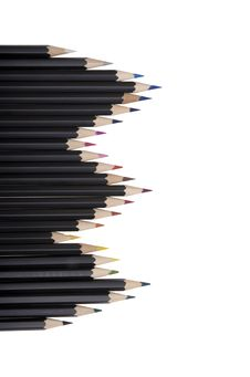 Free Colored Pencils In A Row Stock Images - 9222614