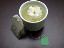 Free Refreshing Floral Tea With A Teabag On A Side Royalty Free Stock Photo - 9223015