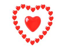 Free Heart Collection - Push Here Royalty Free Stock Photo - 9223265