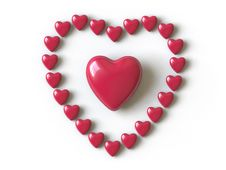 Free Heart Collection - Push Here Stock Photo - 9223280