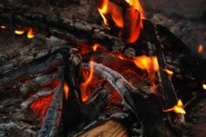 Campfire Embers Royalty Free Stock Image