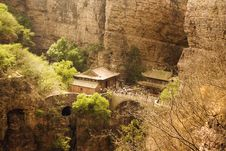 Panorama Of Cangyanshan And Its Flying Temples Royalty Free Stock Image