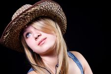 Free Girl In A Hat Stock Photo - 9224520