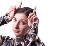 Free Girl With Horns Royalty Free Stock Image - 9224766