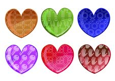 Free Hearts Icon Set Royalty Free Stock Image - 9225256