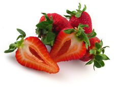 Free Cut Strawberries Stock Photography - 9225482