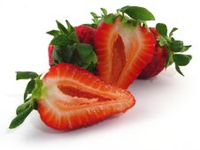 Free Cut Strawberries Stock Photo - 9225530