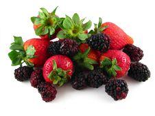 Strawberries & Blackberries Royalty Free Stock Photography