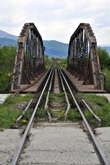 Railway Over Bridge Stock Image