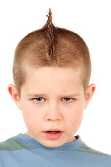 Little Boy With Mohawk Stock Photo