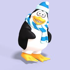 Free Male Toon Penguin Stock Photography - 9226312